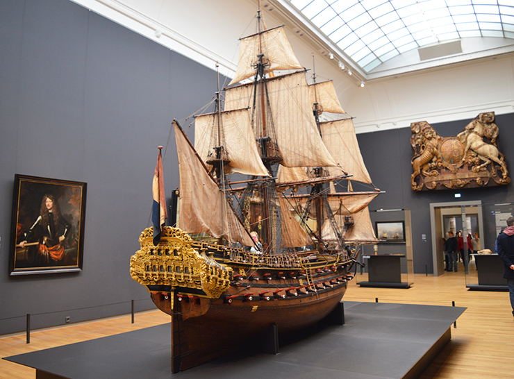 Ship in the Rijks Museum