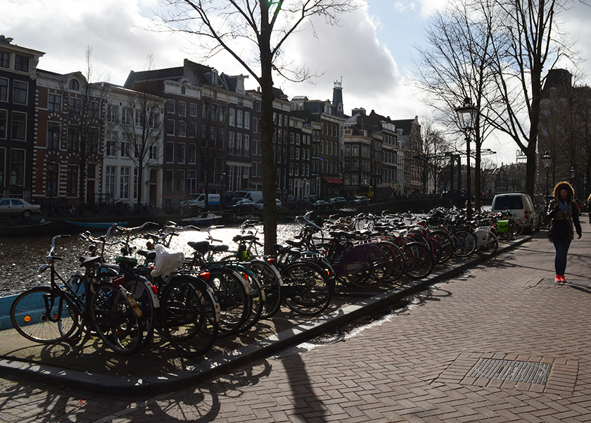 Bikes and Town Houses Amsterdam