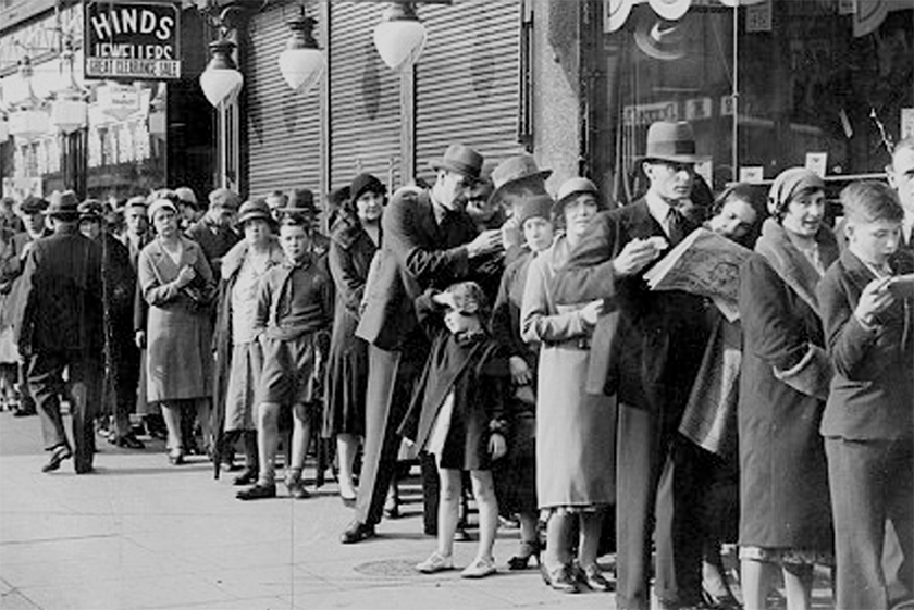 Britain queuing in the War