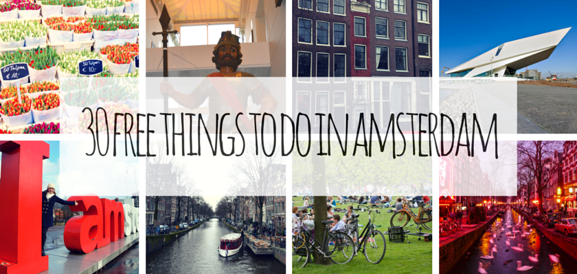 30 free things to do in Amsterdam
