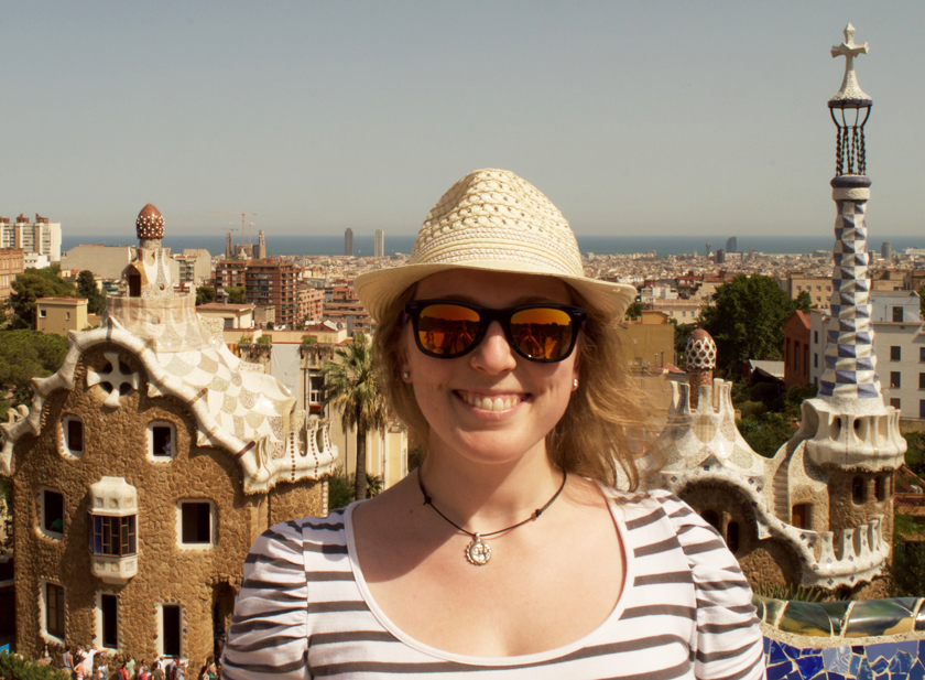 Sweltering in Parc Guell