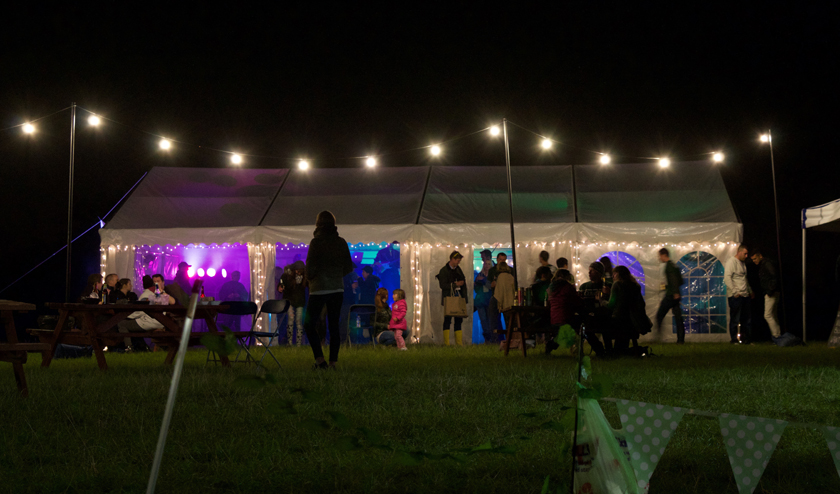Blogstock 2015 party tent