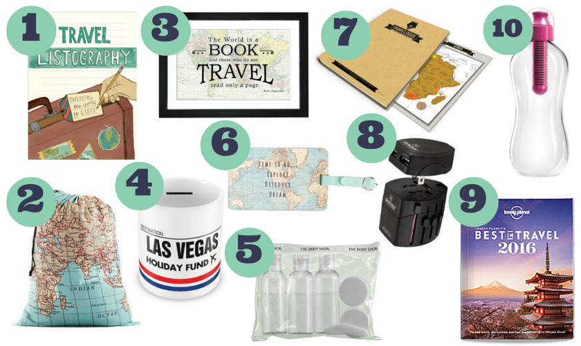 Top 10 travel gifts under 10footsteps on the globe for Good gifts for a traveler