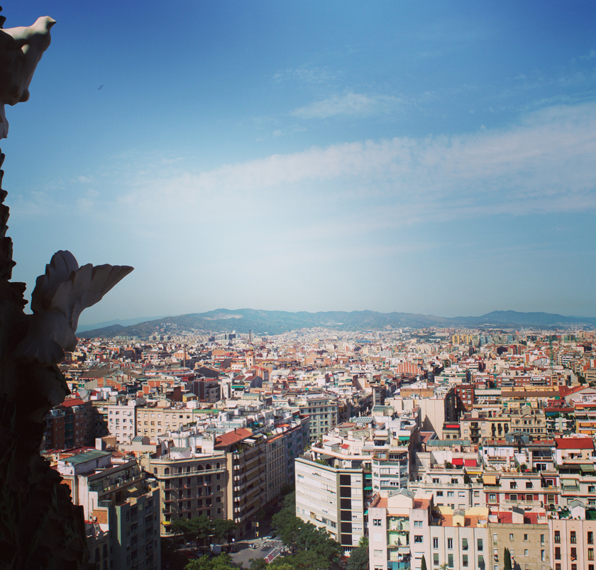 View from the top Sagrada Familia