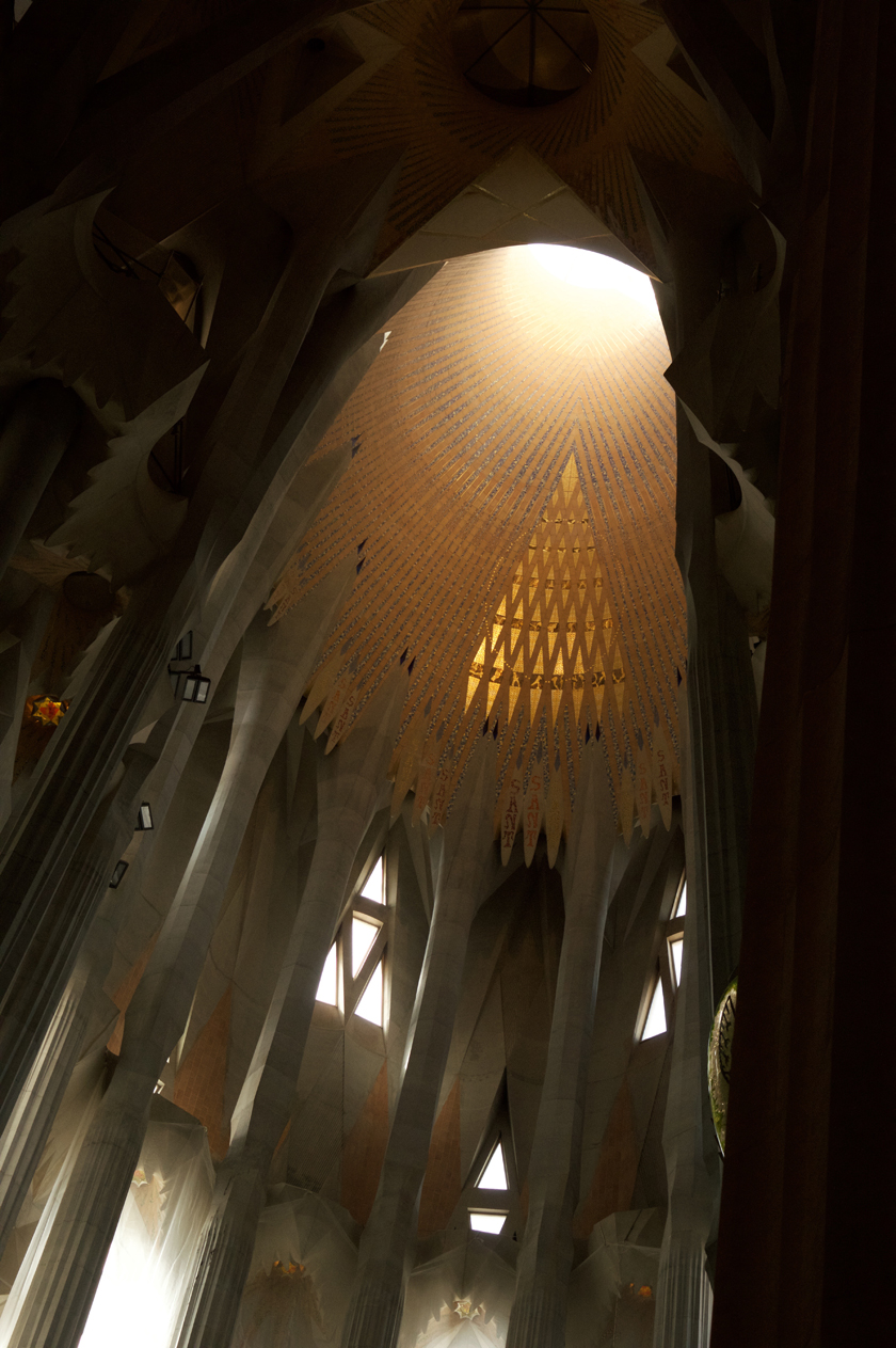 Light from the ceiling Sagrada Familia