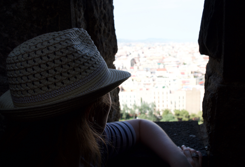 Looking out from the top Sagrada Familia