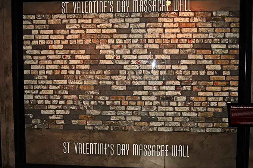 St Valentine's Day massacre Wall at the Mob Museum, top things to do in downtown Las Vegas for non gamblers