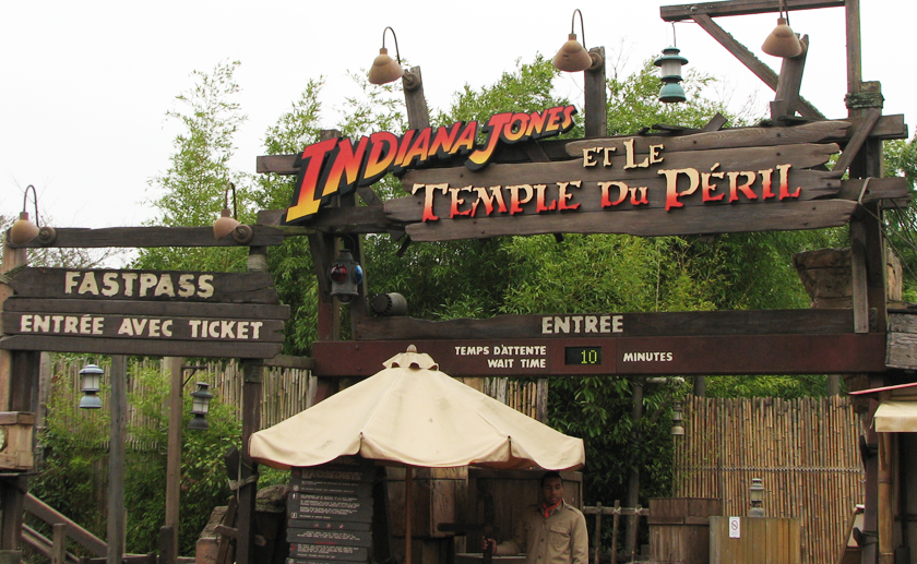 Front of the Indiana Jones ride in Disneyland Paris