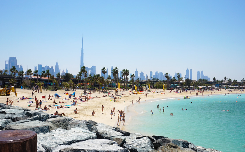 One of my favourite go-to beaches: La Mer Dubai