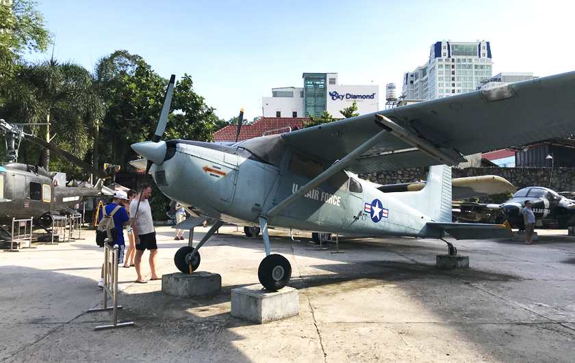 U.S Air Force Vietnam War plane at the War Remnants Museum in Ho Chi Minh City in Vietnam