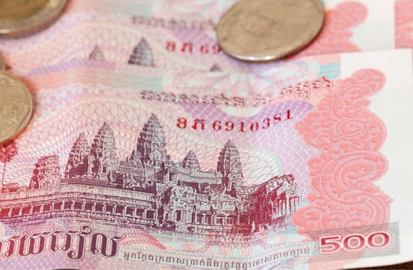 Angkor Wat on a Cambodian note.