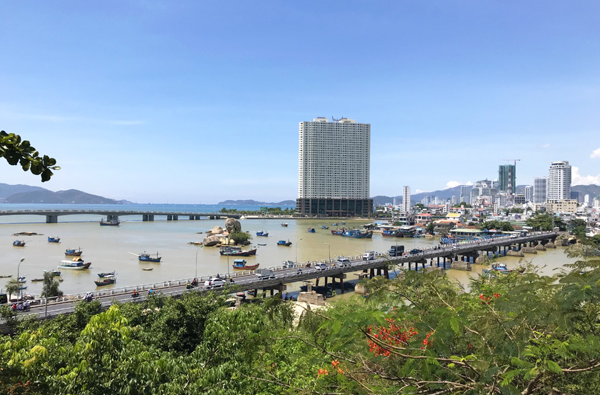 Nha Trang skyline in Vietnam from Ponagar Towers point of view