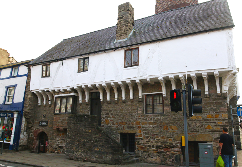 Street view of Aberconwy House, a medieval merchant's house.