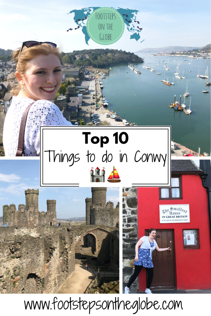 Top 10 things to do in Conwy Pinterest image