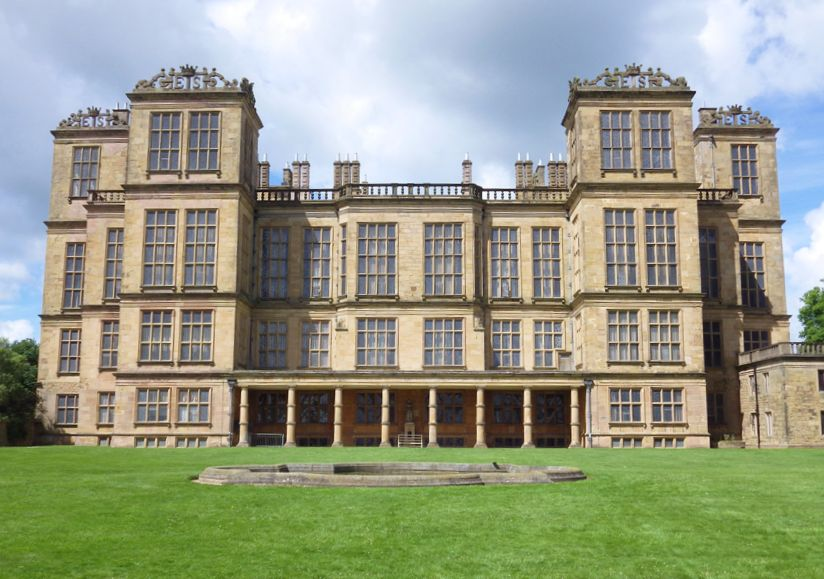 Outside of Hardwick Hall which was the location of Malfoy Manor in the final two movie instalments of the Harry Potter series